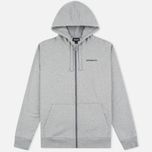 Мужская толстовка Patagonia P-6 Logo Midweight Full-Zip Feather Grey фото- 0