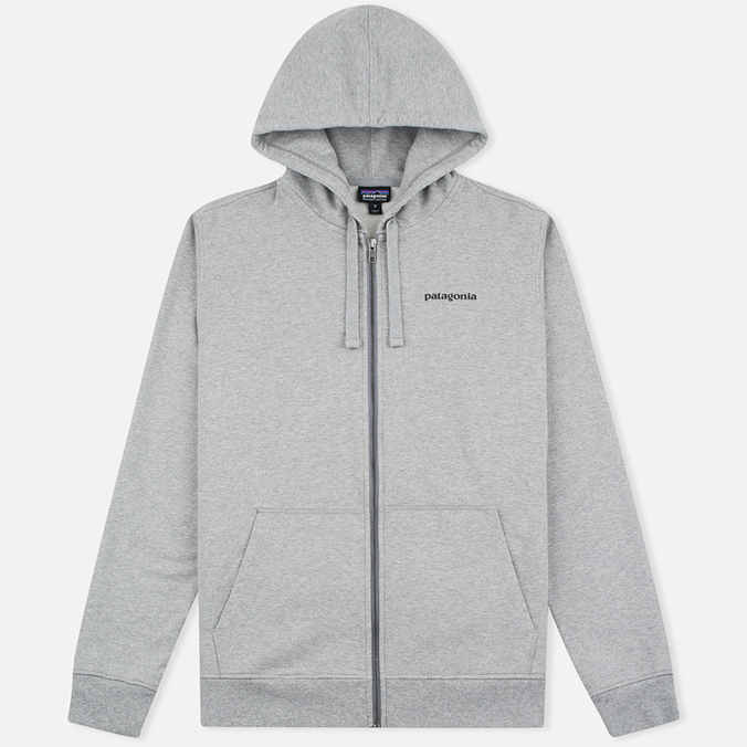 Мужская толстовка Patagonia P-6 Logo Midweight Full-Zip Feather Grey