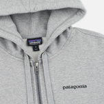 Мужская толстовка Patagonia P-6 Logo Midweight Full-Zip Feather Grey фото- 1
