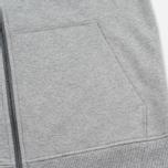 Patagonia P-6 Logo Midweight Full-Zip Men's Hoodie Feather Grey photo- 3
