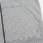 Мужская толстовка Patagonia P-6 Logo Midweight Full-Zip Feather Grey фото- 3