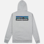 Мужская толстовка Patagonia P-6 Logo Midweight Full-Zip Feather Grey фото- 5