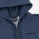 Мужская толстовка Patagonia P-6 Logo Midweight Full-Zip Navy Blue фото- 1