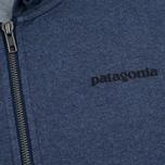 Мужская толстовка Patagonia P-6 Logo Midweight Full-Zip Navy Blue фото- 2