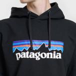 Мужская толстовка Patagonia P-6 Logo Uprisal Hoodie Black фото- 2
