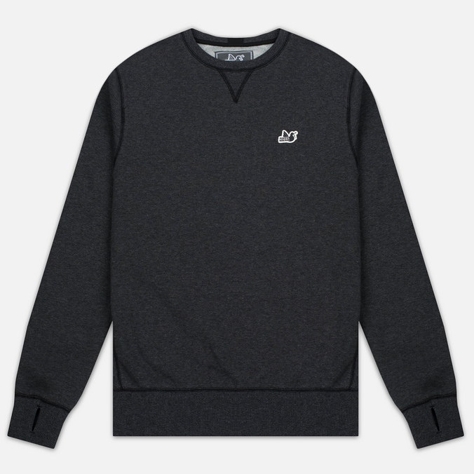 Мужская толстовка Peaceful Hooligan Eaton Crew Neck Marl Black