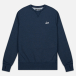 Мужская толстовка Peaceful Hooligan Eaton Crew Neck Marl Navy фото- 0