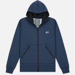 Peaceful Hooligan Lewis Hoody Marl Men's Sweatshirt Navy photo- 0