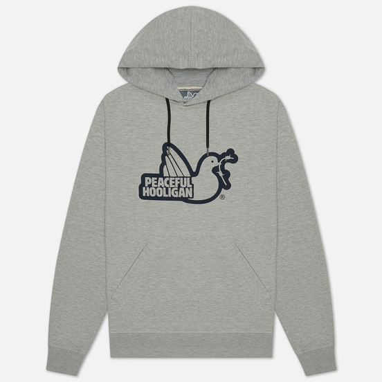 Мужская толстовка Peaceful Hooligan Outline Dove Hoodie Marl Grey
