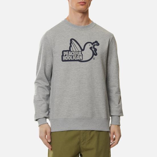 Мужская толстовка Peaceful Hooligan Outline Dove Marl Grey/Navy Print
