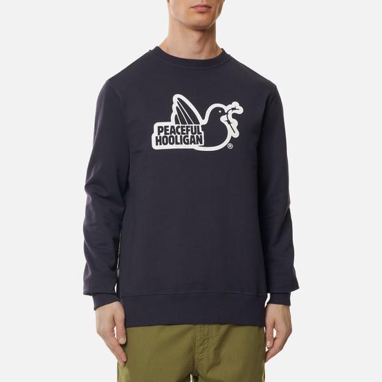 Мужская толстовка Peaceful Hooligan Outline Dove Navy/White Print