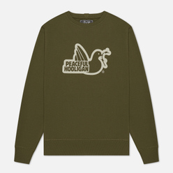 Мужская толстовка Peaceful Hooligan Outline Dove Olive