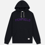 Мужская толстовка Penfield Starkville Hoody Black/Purple фото- 0