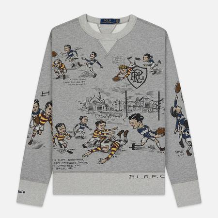 Мужская толстовка Polo Ralph Lauren All Over Print Vintage Fleece Andover Heather