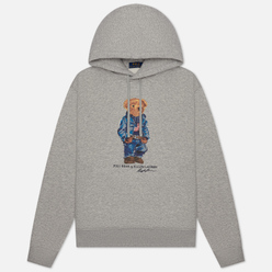 Мужская толстовка Polo Ralph Lauren American Bear Magic Fleece Hoodie Andover Heather