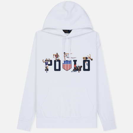 Мужская толстовка Polo Ralph Lauren Athletic Sport Graphic Print Hoodie White