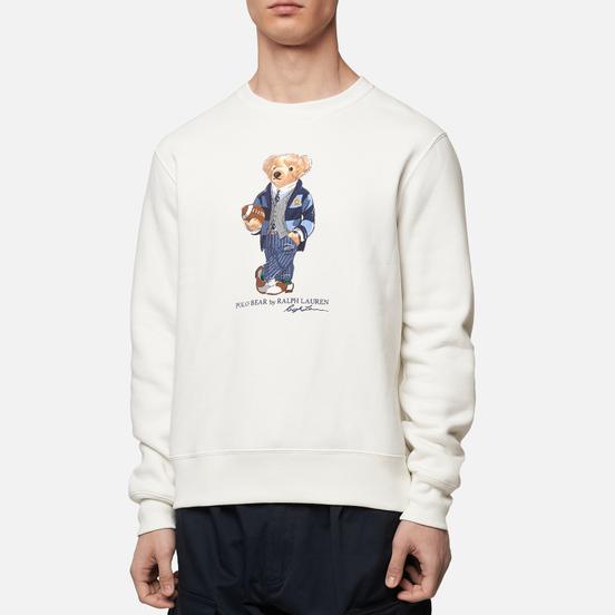 Мужская толстовка Polo Ralph Lauren Bear Ready Play Football In Polo Style Deckwash White