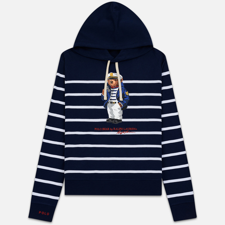 36639dbf139b2 Мужская толстовка Polo Ralph Lauren Capitan Bear Hoody Stripe Cruise  Navy/White
