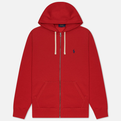 Мужская толстовка Polo Ralph Lauren Classic Full Zip Hoodie Fleece Red