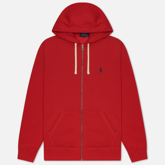 Мужская толстовка Polo Ralph Lauren Classic Full Zip Hoodie Fleece Red