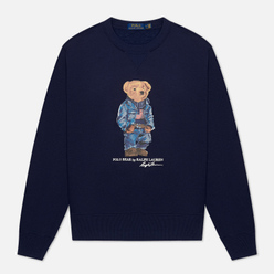 Мужская толстовка Polo Ralph Lauren Denim Bear Magic Fleece Cruise Navy
