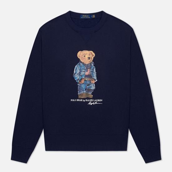 Мужская толстовка Polo Ralph Lauren Denim Bear Magic Fleece Cruise Navy