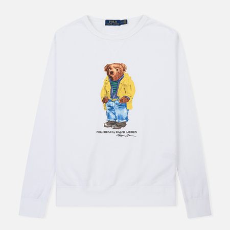 Мужская толстовка Polo Ralph Lauren Different Print Big Bear White