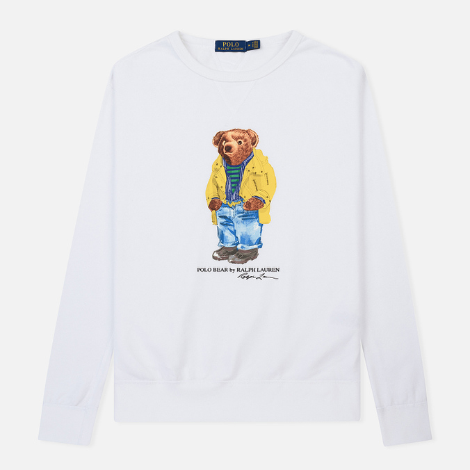 Мужская толстовка Polo Ralph Lauren Different Print Big Bear White