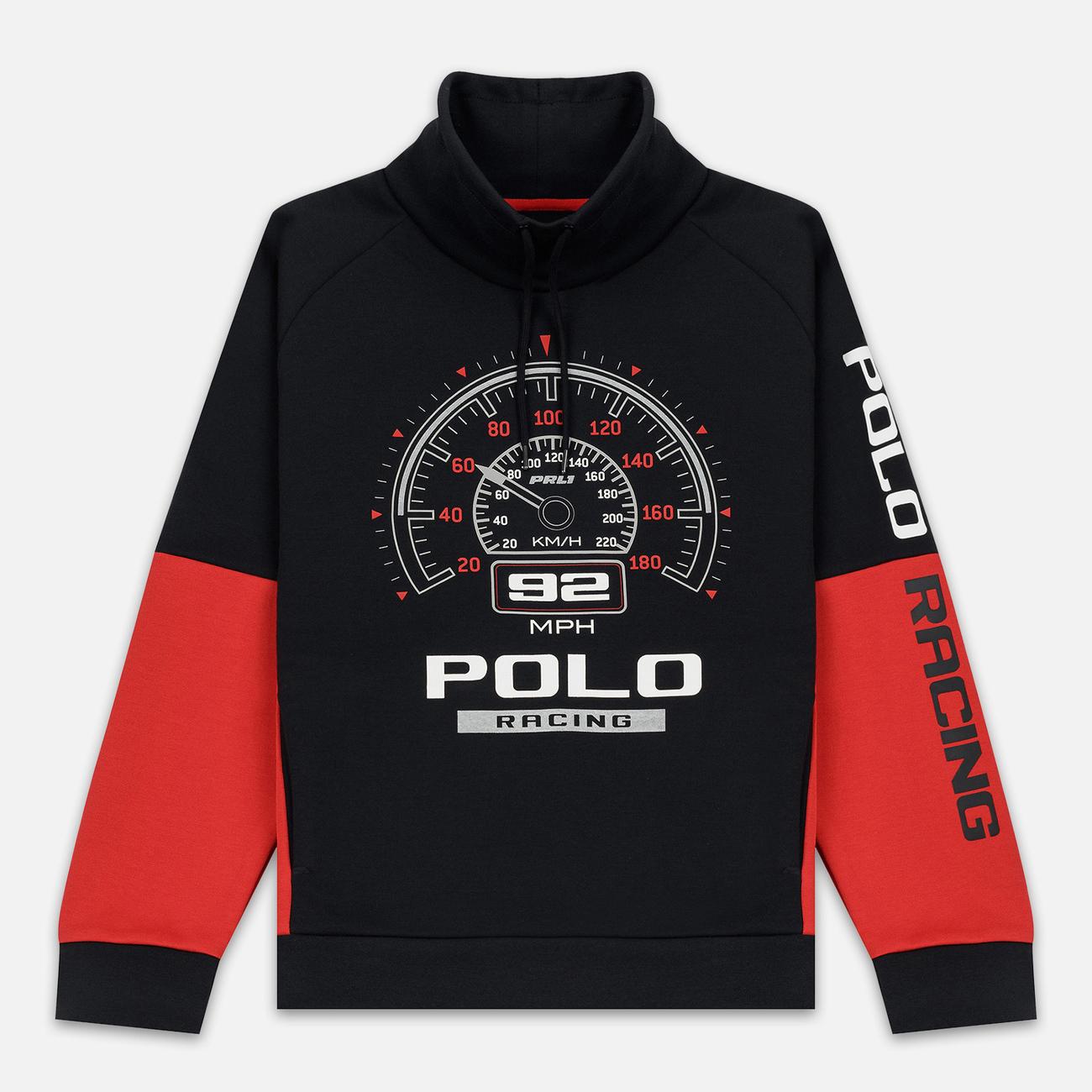 Мужская толстовка Polo Ralph Lauren Polo Racing Double Knit Tech Black