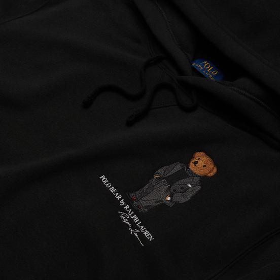 Мужская толстовка Polo Ralph Lauren Embroidered Bear Magic Fleece Hoodie Black