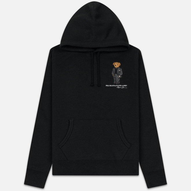 Мужская толстовка Polo Ralph Lauren Embroidered Bear Magic Fleece Hoodie Black