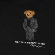Мужская толстовка Polo Ralph Lauren Embroidered Bear Magic Fleece Hoodie Black фото- 2