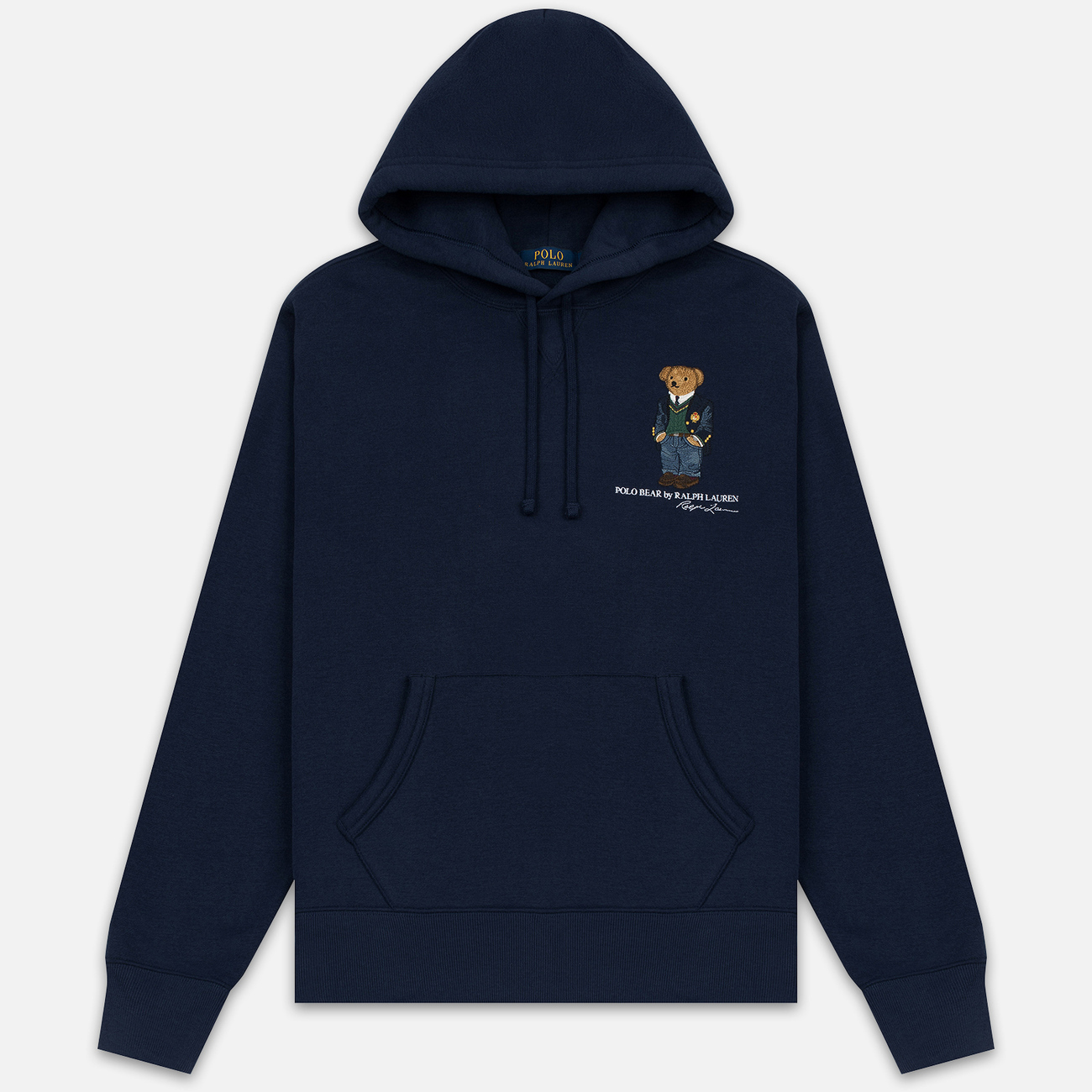 Мужская толстовка Polo Ralph Lauren Embroidered Bear Magic Fleece Hoodie Cruise Navy