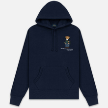 Мужская толстовка Polo Ralph Lauren Embroidered Bear Magic Fleece Hoodie Cruise Navy фото- 0