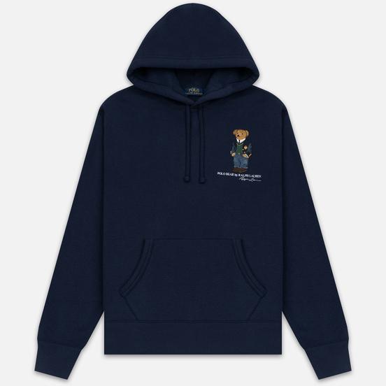 Мужская толстовка Polo Ralph Lauren Embroidered Bear Magic Fleece Hoodie Cruise Navy