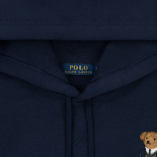 Мужская толстовка Polo Ralph Lauren Embroidered Bear Magic Fleece Hoodie Cruise Navy фото- 1