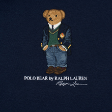 Мужская толстовка Polo Ralph Lauren Embroidered Bear Magic Fleece Hoodie Cruise Navy фото- 2