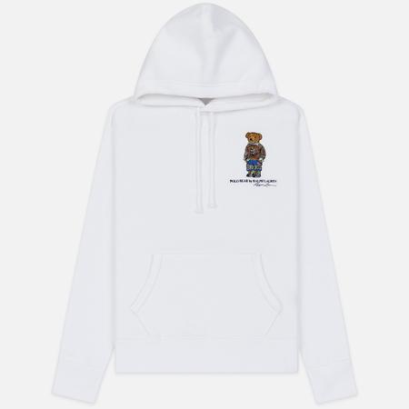Мужская толстовка Polo Ralph Lauren Embroidered Bear Magic Fleece Hoodie White