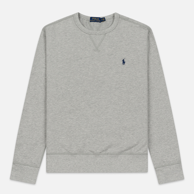 Мужская толстовка Polo Ralph Lauren Embroidered Pony Fleece Crew Neck Andover Heather