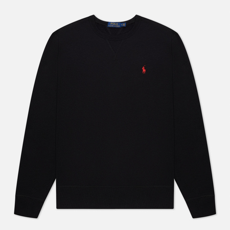 Мужская толстовка Polo Ralph Lauren Embroidered Pony Fleece Crew Neck Black