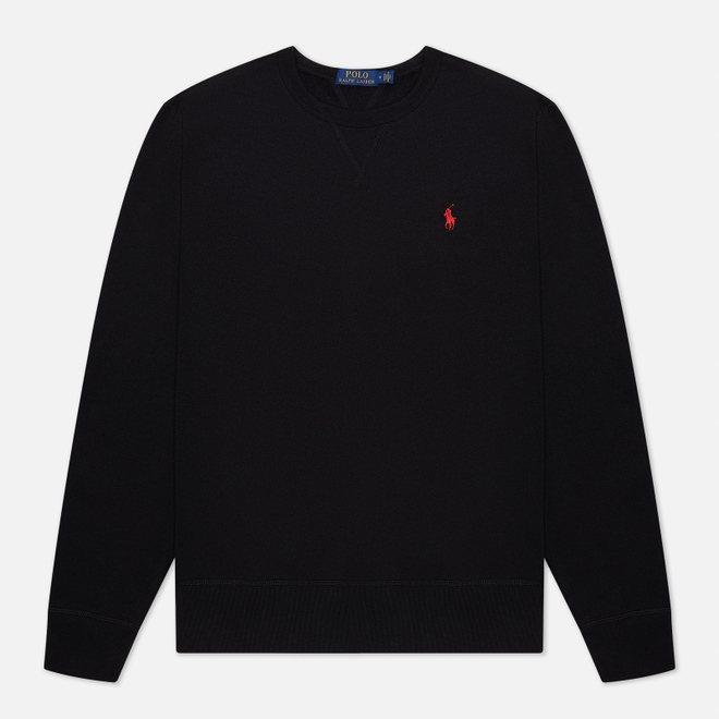 Мужская толстовка Polo Ralph Lauren Embroidered Pony Fleece Crew Neck Black