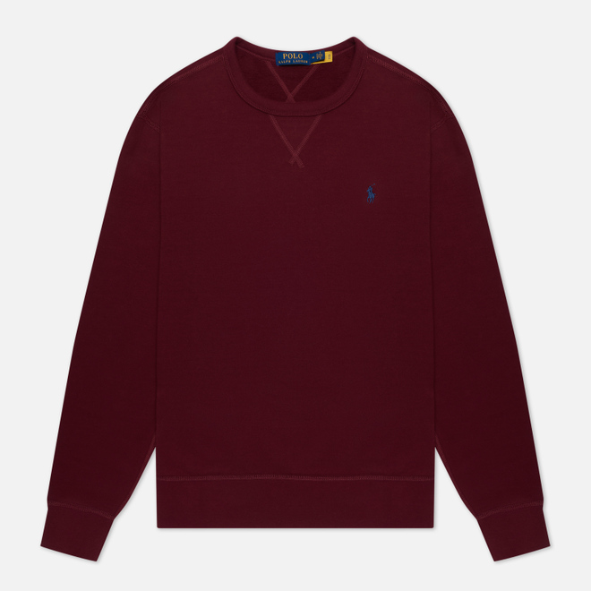 Мужская толстовка Polo Ralph Lauren Embroidered Pony Fleece Crew Neck Classic Wine