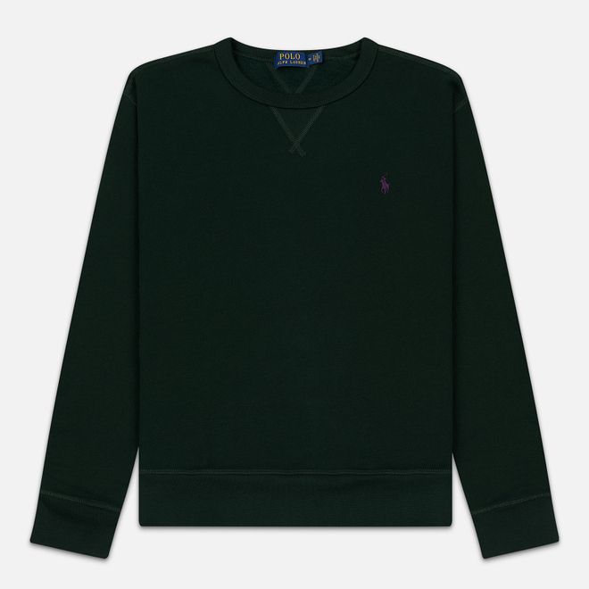 Мужская толстовка Polo Ralph Lauren Embroidered Pony Fleece Crew Neck College Green