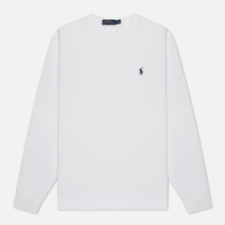 Мужская толстовка Polo Ralph Lauren Embroidered Pony Fleece Crew Neck White