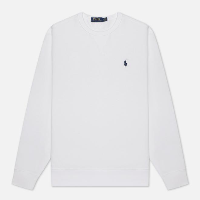 Мужская толстовка Polo Ralph Lauren Embroidered Pony Fleece Crew Neck White