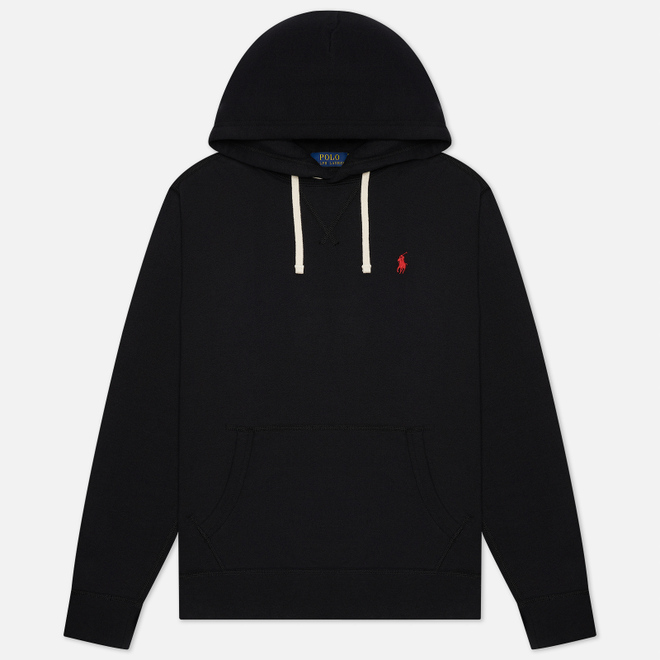 Мужская толстовка Polo Ralph Lauren Embroidered Pony Fleece Hoodie Black