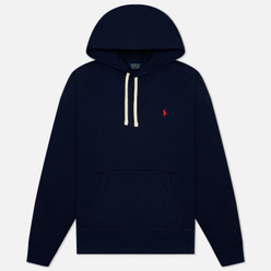 Мужская толстовка Polo Ralph Lauren Embroidered Pony Fleece Hoodie Cruise Navy