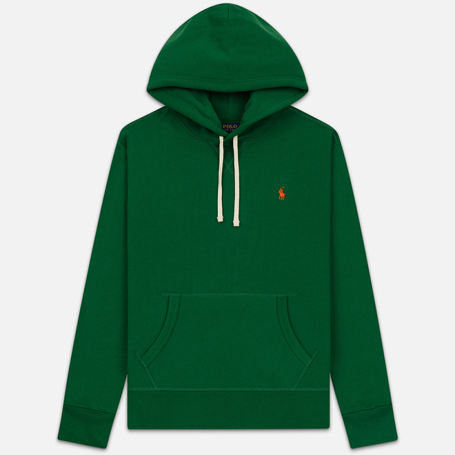 Мужская толстовка Polo Ralph Lauren Embroidered Pony Fleece Hoodie Jerry Green