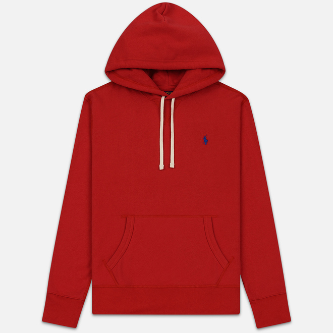 Мужская толстовка Polo Ralph Lauren Embroidered Pony Fleece Hoodie Polo Sport Red