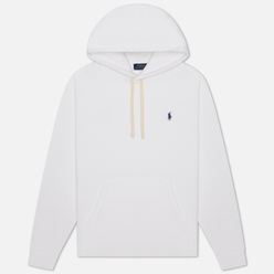 Мужская толстовка Polo Ralph Lauren Embroidered Pony Fleece Hoodie White/Navy